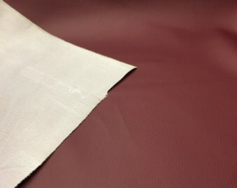 """Catina Burgundy Faux Leather Vinyl Fabric - Sold By The Yard - 54"""""""