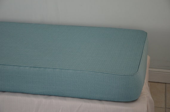 Daybed Matching Tailored Fitted Cover Twin Linen Turquoise