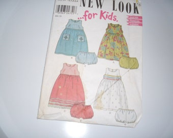 New Look for Kids Dress and Bloomers 6072 SZ 1/2,1,2,3,4