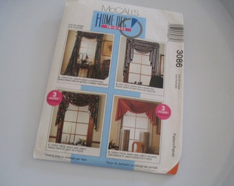 McCall's Home Dec in a Sec Curtain Swag And Jabot Pattern