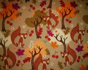 Happy Fall Foxes - custom cloth pad