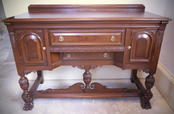 Jacobean Revival Style Antique Sideboard