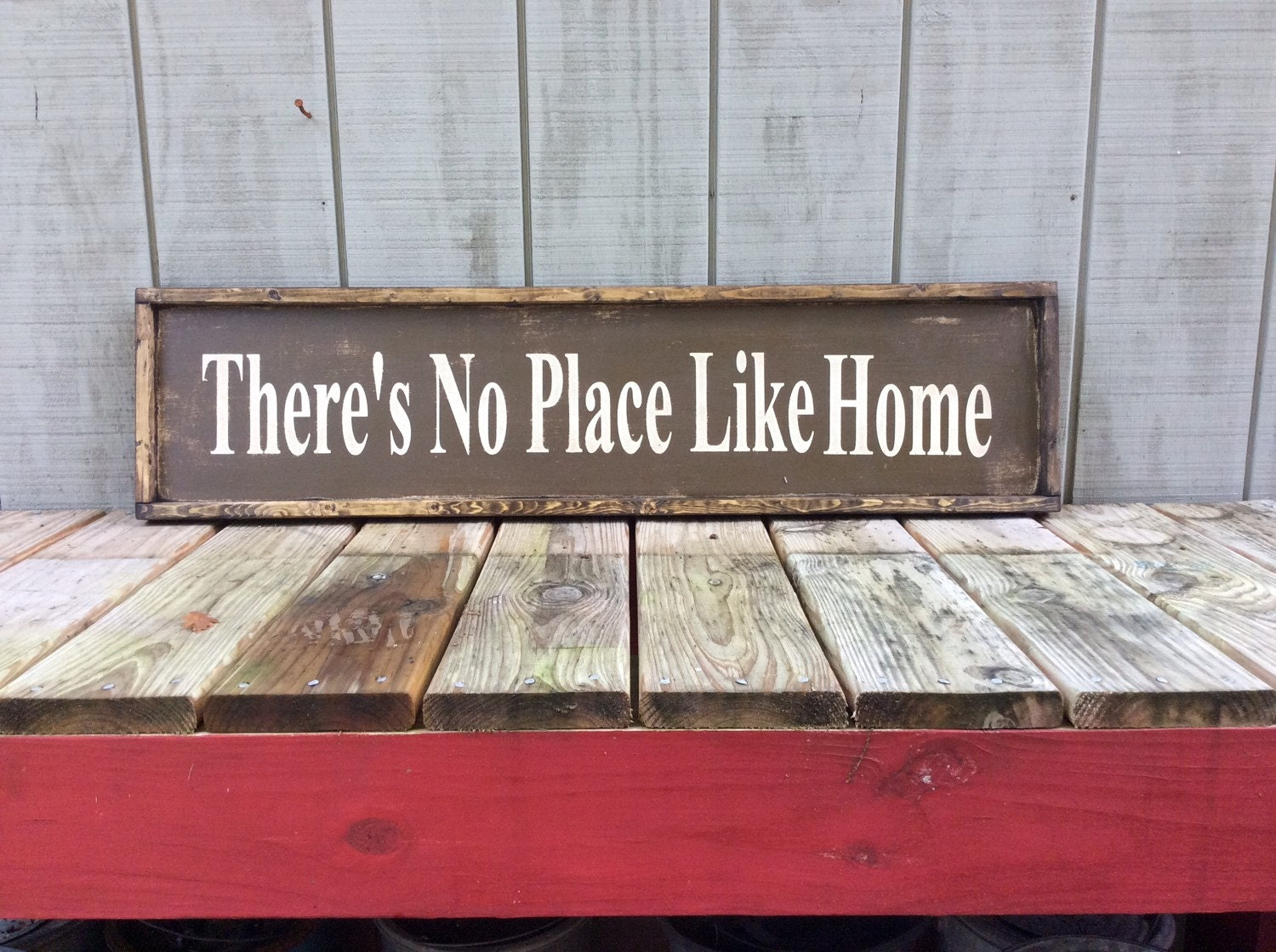 There's No place Like Home Wood Sign by sophisticatedhilbily