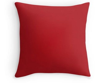Ladybug Red Pillow, Red Throw Pillow, Red Decorative Pillow, Red Pillow, Red Toss Pillow, Red Bedding, Dark Red Pillow, Red Room, Red Decor