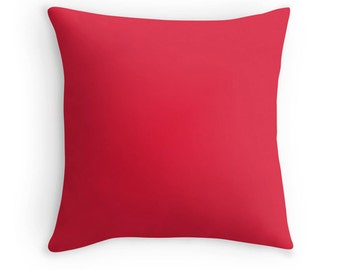 Apple Red Pillow, Red Throw Pillow, Red Decorative Pillow, Red Pillow, Red Toss Pillow, Red Bedding, Red Room, Red Pillow Case, Red Decor