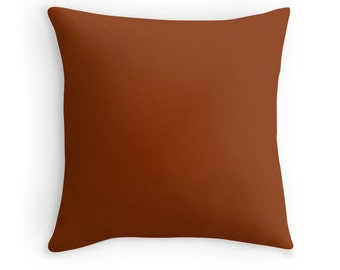 Brown Pillow, Brown Throw Pillow, Brown Bedroom, Brown Toss Pillow, Brown Decor, Brown Bedding, Dark Brown Pillow, Brown Room
