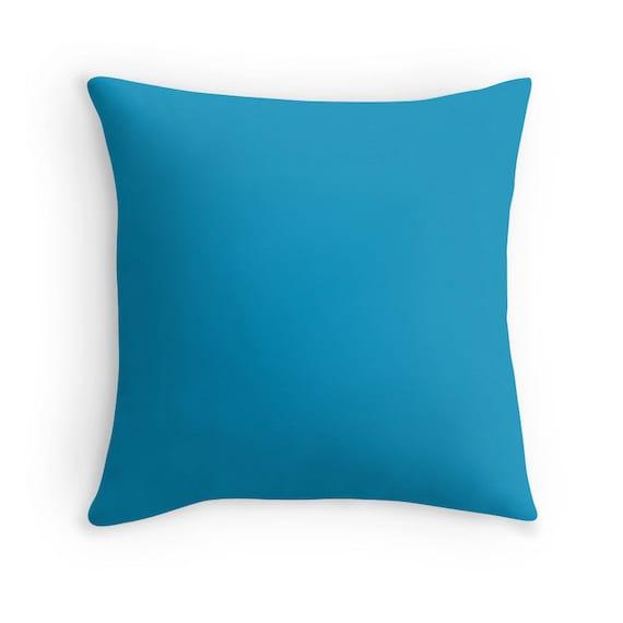 Cerulean Blue Throw Pillows : Cerulean Blue Pillow Bright Blue Pillow Blue Decorative