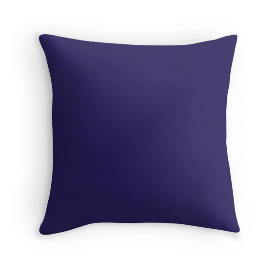 Indigo Blue Pillow Blue Throw Pillow Blue Decorative Pillow