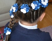 Handmade Girl's Braid/Plait Satin Flower Ribbon/Tie,Kanzashi Style, School/Party