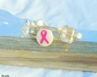Breast Cancer Awareness Bracelet set