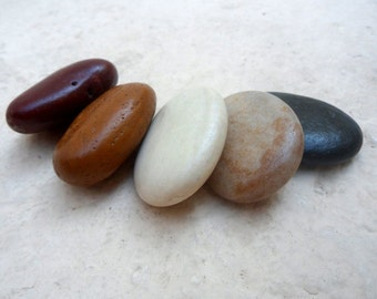 Beach Pebbles, Beach Stones, Sea Stones, Stone Beads, Wire Wrap Stones, Undrilled Stones