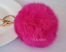 15 color balls of fur ,Rabbit fur ball pendant, key buckle,phone dust plug