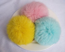 10 cm Rabbit  fur ball keychain, pendant,phone dust plug