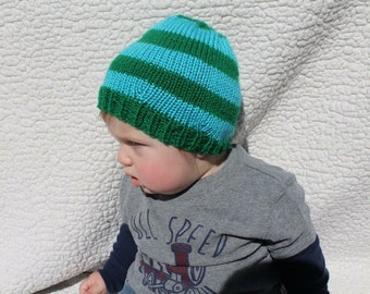 Striped Knit Baby and Toddler Hat - Kid Beanie - Kids Hat