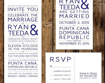 DIY Custom Printable Reception Invitations RSVP After The Destination Wedding At Home