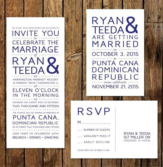 DIY Custom Printable Reception Invitations RSVP After the