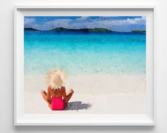 Seaside print,from original watercolor painting,art and collectibles,home decor,wall art,Pic no 21