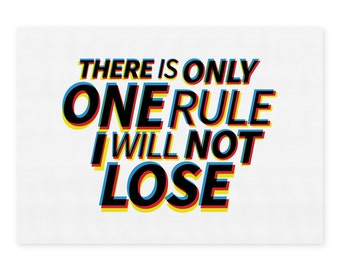 Typography Print - One Rule