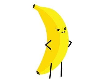 Angry Banana - Temporary Tattoo (Set of 1)