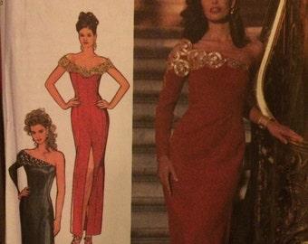 ON SALE One Shoulder Evening Dress Style 2361