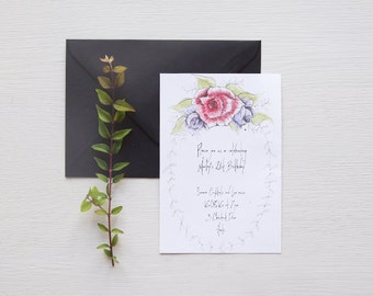 Floral Foliage Birthday Party Invitation
