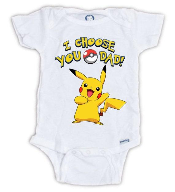 choose you pokemon baby onesie baby bodysuit pikachu onesie