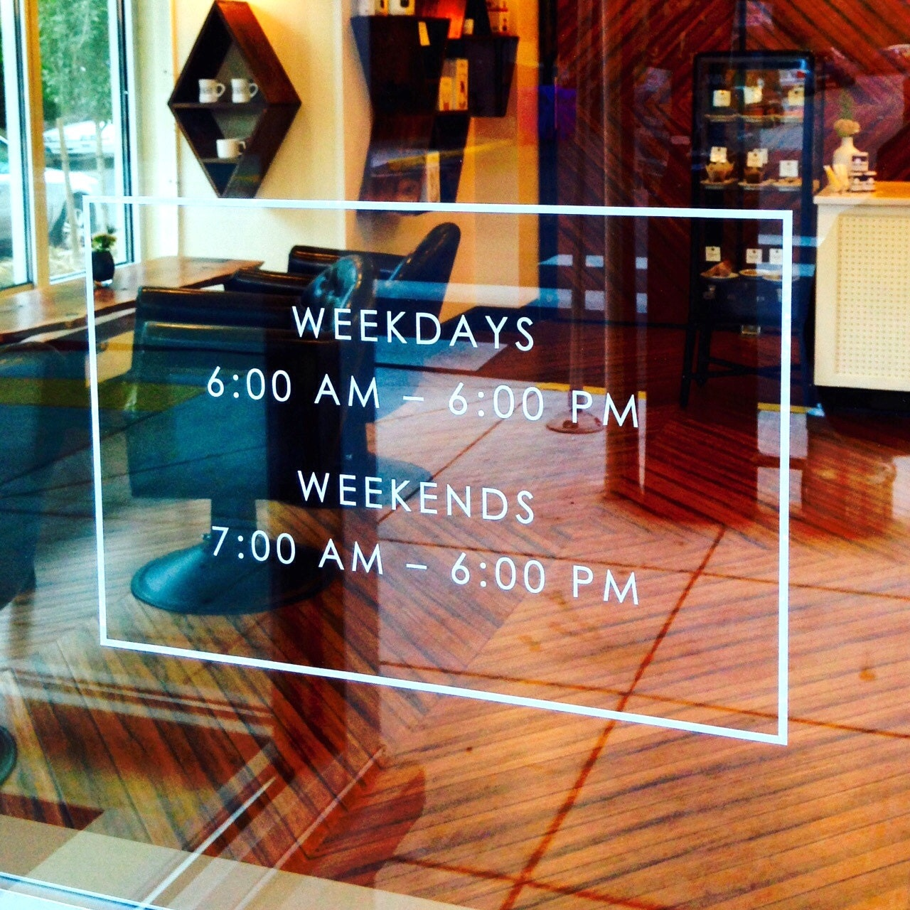 Store Front Hours Vinyl Decal Store Sign Store Display Decal