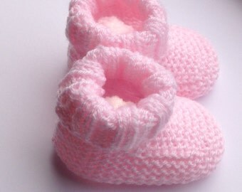 Hand Knitted Preemie Booties in Soft Baby Acrylic