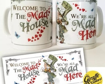 ALICE IN WONDERLAND Mad Hatter Tea Party Decorative Mug Mad House