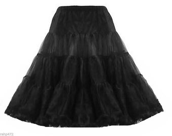 Hand made net petticoat retro vintage style 50's swing parties jive dance free uk size 8-18 all colours