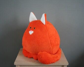 Smittens kitten, big fat cat plushie, orange, made to order