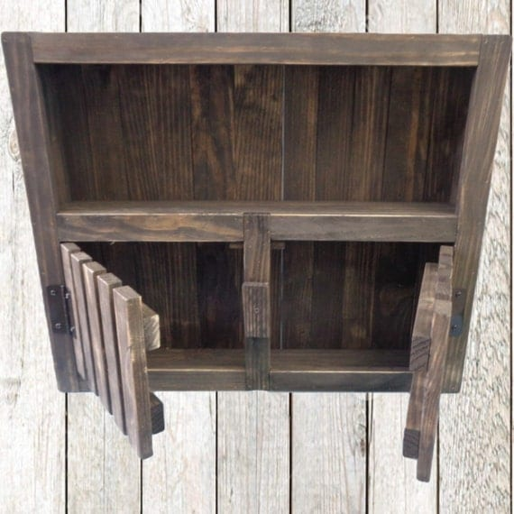 Reclaimed Wood Wall Cabinet With Doors Recycled Wood Mini