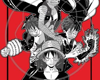 "Onepiece cellphone wallpaper Gears Monkey D. ""Straw Hat"" Luffy anime manga"