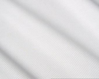 Fabric pure cotton piqué white shirt