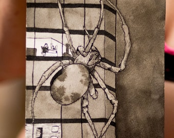Giant Spider in Ink