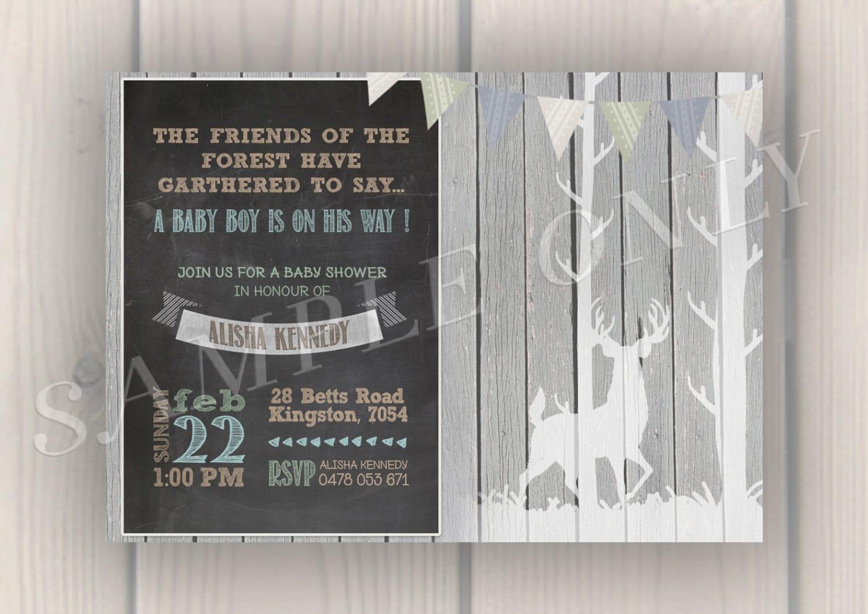 baby shower woodland theme invitation baby by treasureofkairos