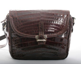 FREE US SHIPPING Vintage Alligator Cross Body Bag