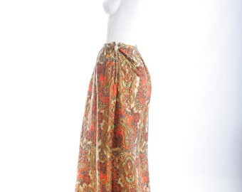 FREE US SHIPPING Vintage Quilted Maxi Skirt