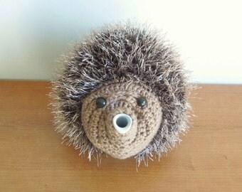 handmade Hedgehog tea cosy. Great in your kitchen / dining. handmade tea cosy. animal tea cosies uk. woodland animal tea cosy