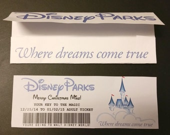 Customizable Disney ticket