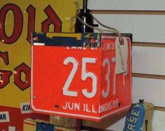 License Plate Pendant Light
