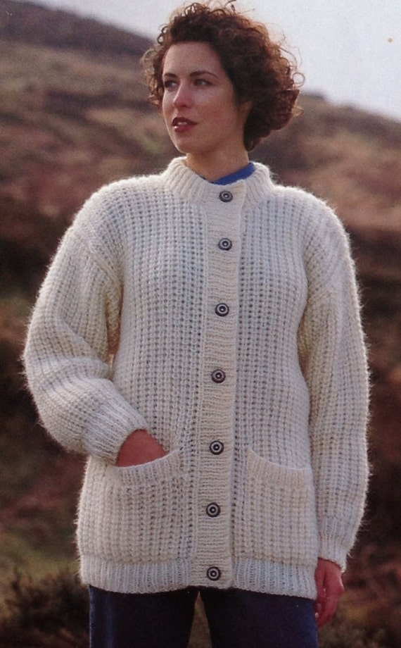 Knitting Pattern Girls/Ladies/Woman's Cardigan/Jacket ...