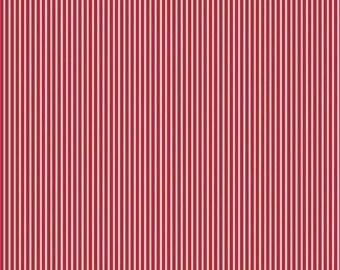 SALE!! 1 Yard Bloom and Bliss by Nadra Ridgeway for Riley Blake Designs Red Stripe 4585