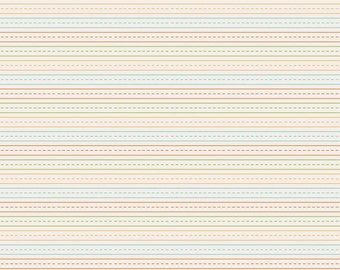 SALE!! 1 Yard School Days By Zoe Pearn for Riley Blake Designs 4824- Cream Stripe