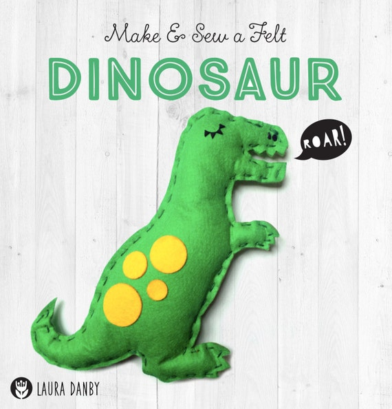 Dinosaur Craft Kit, T-Rex Felt Sewing Kit, Kids Craft Activity, Soft Toy Making Kit, Precut Felt, Animal Toy for Children, Learn how to Sew