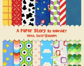Toy Story Digital Paper Pack For Scrapbooking