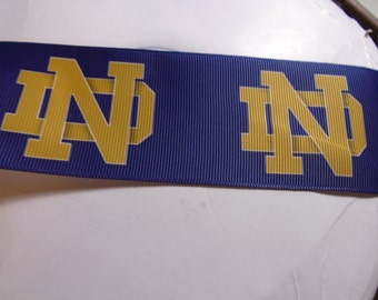 2 yards of 2 Inch Wide Notre Dame grosgrain ribbon