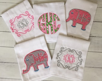 Personalized/Monogrammed Burp Cloth and Bib Set