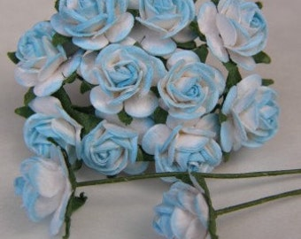 1:12 DOLLHOUSE 20 Roses, blue and white