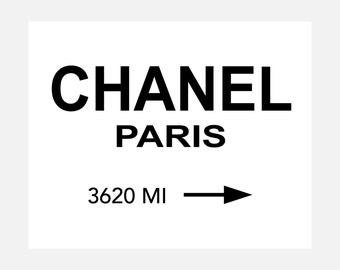 Chanel Paris - Ready To Hang Canvas Wrap - Available Sizes (8x10) (11x14) (16x20) (18x24) (20x24) (24x30)